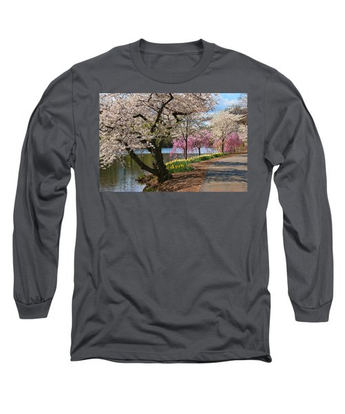 Cherry Blossom Trees Of Branch Brook Park 17 Long Sleeve T-Shirt