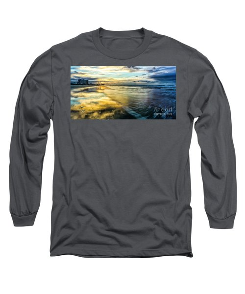 Cherry Grove Golden Shimmer Long Sleeve T-Shirt by David Smith