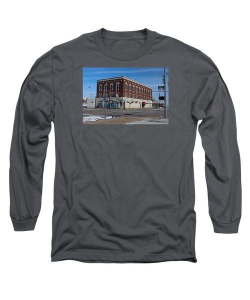 Long Sleeve T-Shirt featuring the photograph Cherry Street Mission In Winter by Michiale Schneider