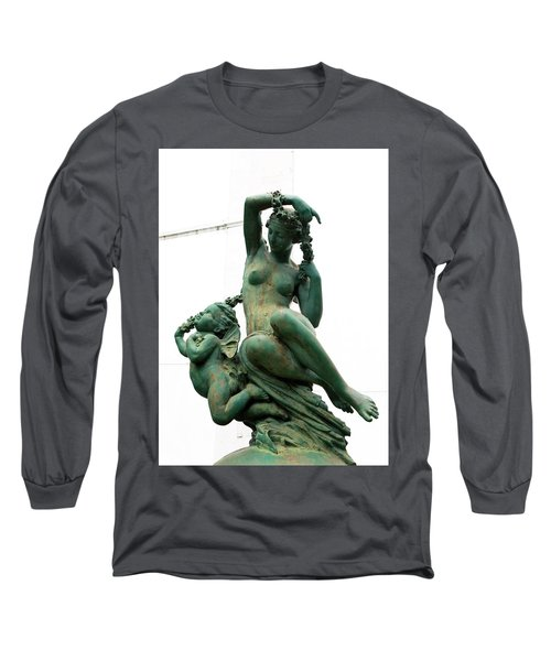 Cherub In Green Copper Long Sleeve T-Shirt