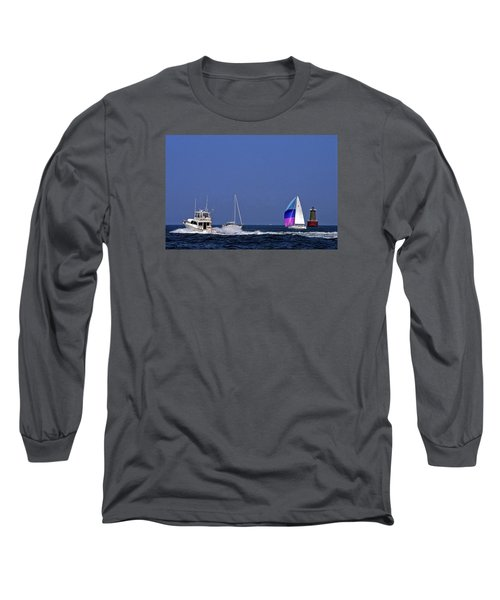 Chesapeake Bay Action Long Sleeve T-Shirt by Sally Weigand