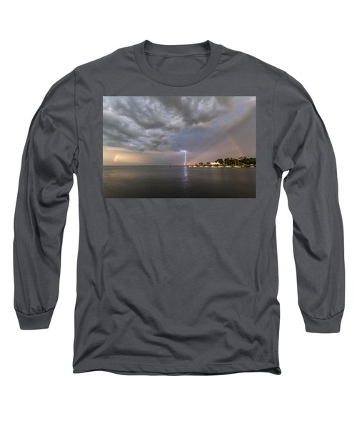 Long Sleeve T-Shirt featuring the photograph Chesapeake Bay Rainbow Lighting by Jennifer Casey