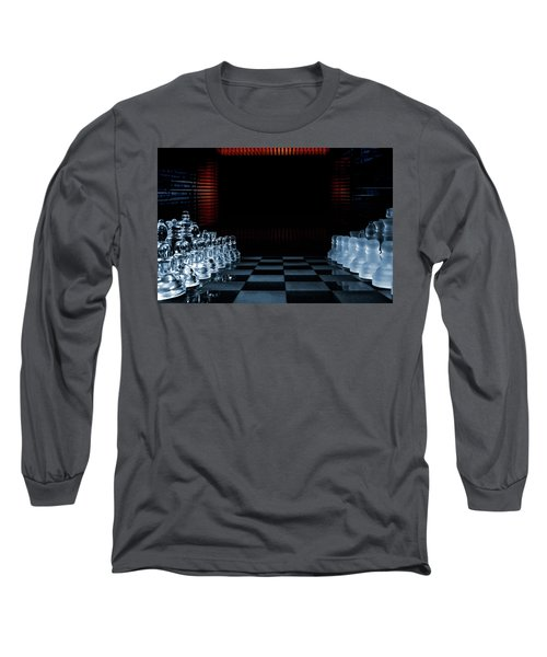 Chess Game Performed By Artificial Intelligence Long Sleeve T-Shirt by Christian Lagereek