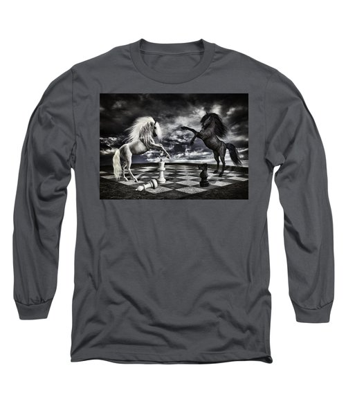 Chess Players Long Sleeve T-Shirt by Mihaela Pater