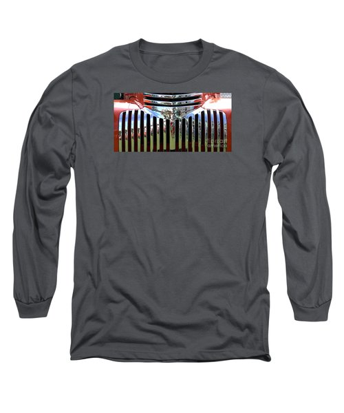 Chevrolet Grille 01 Long Sleeve T-Shirt by Rick Piper Photography