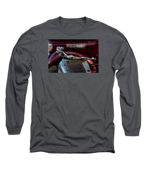 Chevrolet Hood Ornament Long Sleeve T-Shirt by Jay Stockhaus