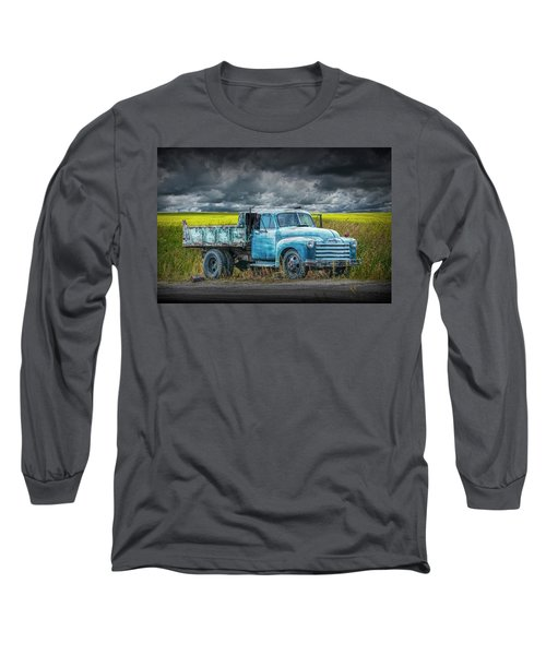 Chevy Truck Stranded By The Side Of The Road Long Sleeve T-Shirt