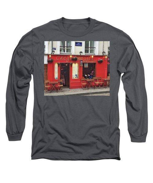 Chez Marie Restaurant, Montmartre, Paris Long Sleeve T-Shirt