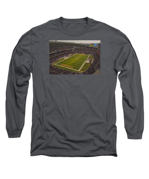 Chicago Bears Soldier Field 7795 Long Sleeve T-Shirt by David Haskett