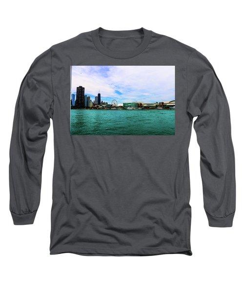 Chicago Blue Long Sleeve T-Shirt