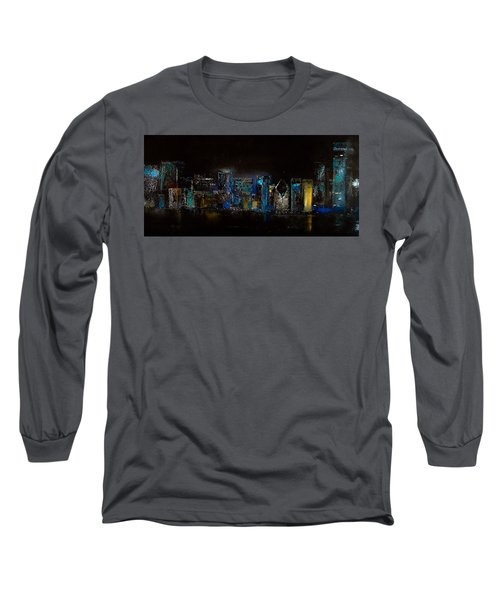 Chicago City Scene Long Sleeve T-Shirt