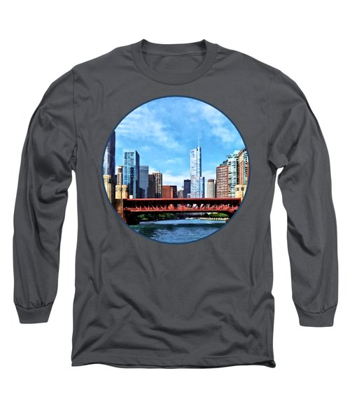 Chicago Il - Lake Shore Drive Bridge Long Sleeve T-Shirt