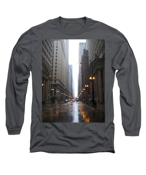 Chicago In The Rain 2 Long Sleeve T-Shirt