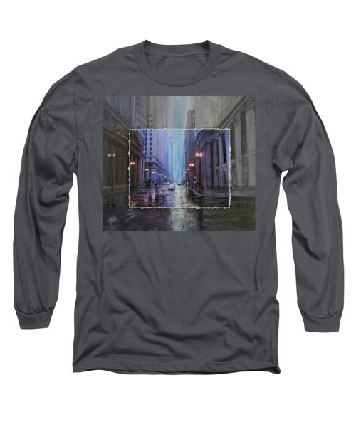 Chicago Rainy Street Expanded Long Sleeve T-Shirt