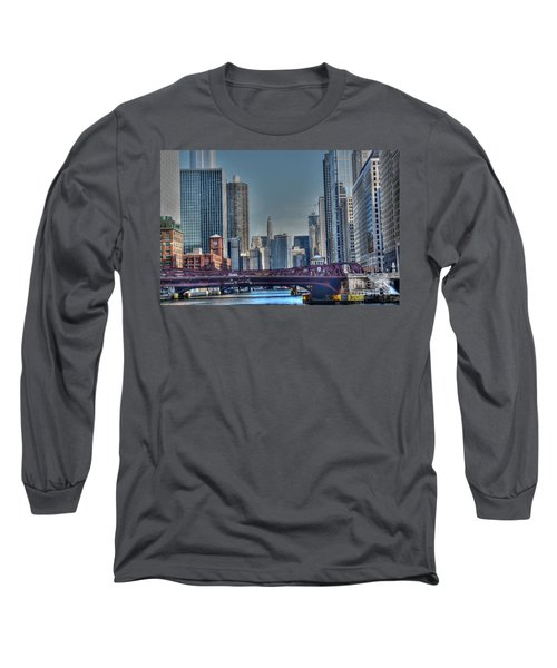 Chicago River East Long Sleeve T-Shirt