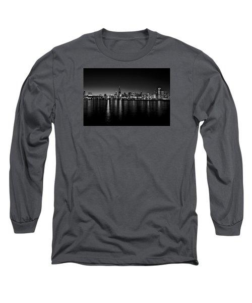 Chicago Skyline Bnw Long Sleeve T-Shirt