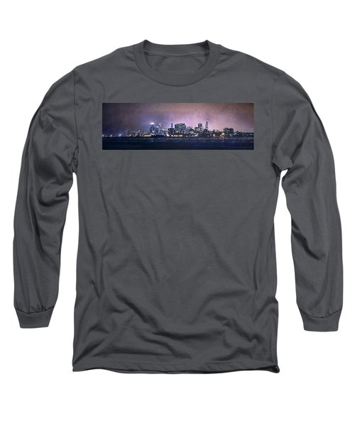 Chicago Skyline From Evanston Long Sleeve T-Shirt by Scott Norris