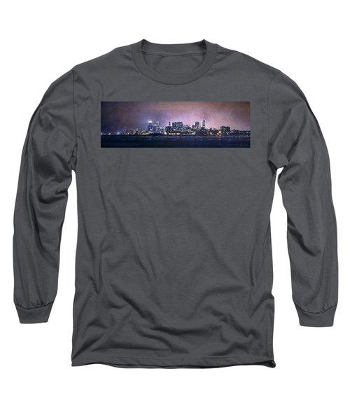 Chicago Skyline From Evanston Long Sleeve T-Shirt by Scott Norris