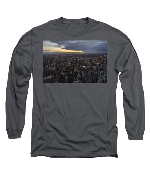 Long Sleeve T-Shirt featuring the photograph Chicago Westward by Steven Sparks