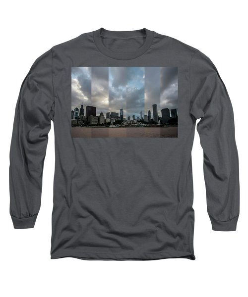 Chicago's Buckingham Fountain Time Slice Photo Long Sleeve T-Shirt
