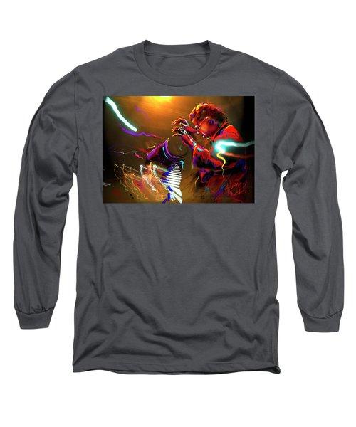 Chick Corea Long Sleeve T-Shirt by DC Langer