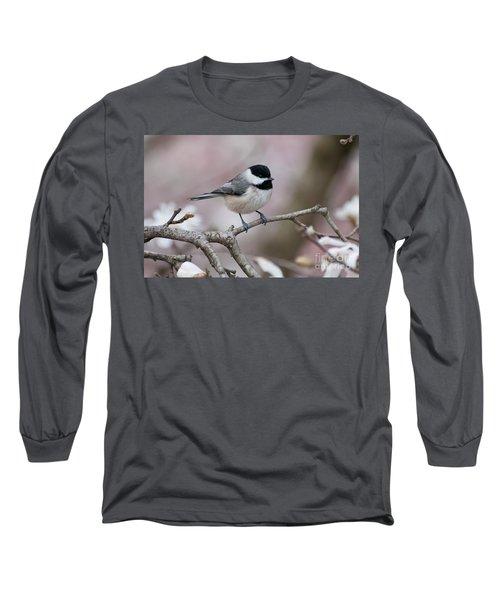 Long Sleeve T-Shirt featuring the photograph Chickadee - D010026 by Daniel Dempster