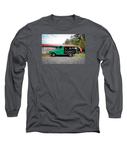 Long Sleeve T-Shirt featuring the photograph Chicken Road Market by Marion Johnson