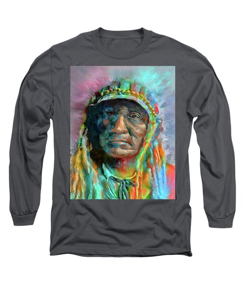 Chief 2 Long Sleeve T-Shirt by Rick Mosher