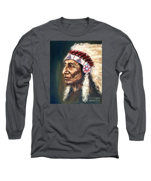 Chief Long Sleeve T-Shirt by Arturas Slapsys