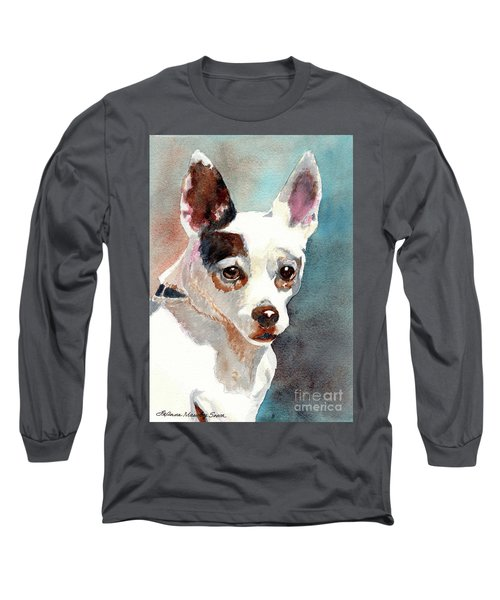 Chihuahua, Dog Painting, Dog Portrait, Dog Prints, Dog Art Long Sleeve T-Shirt