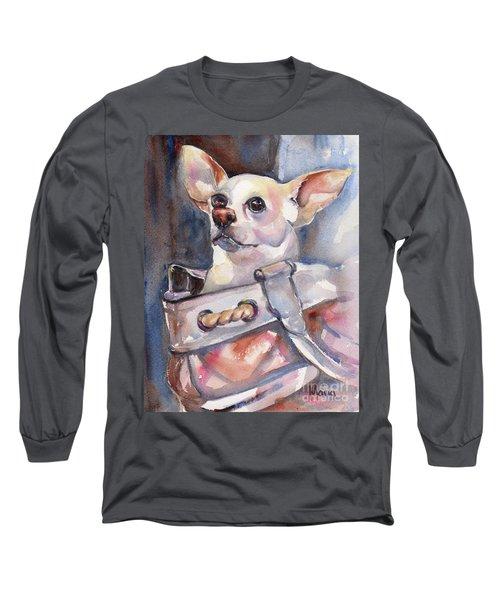 Chihuahua Long Sleeve T-Shirt by Maria's Watercolor