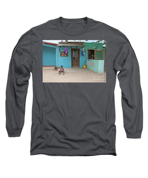 Child And House Long Sleeve T-Shirt
