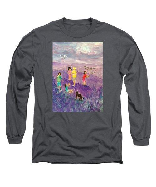 Children Catching Fireflies Long Sleeve T-Shirt