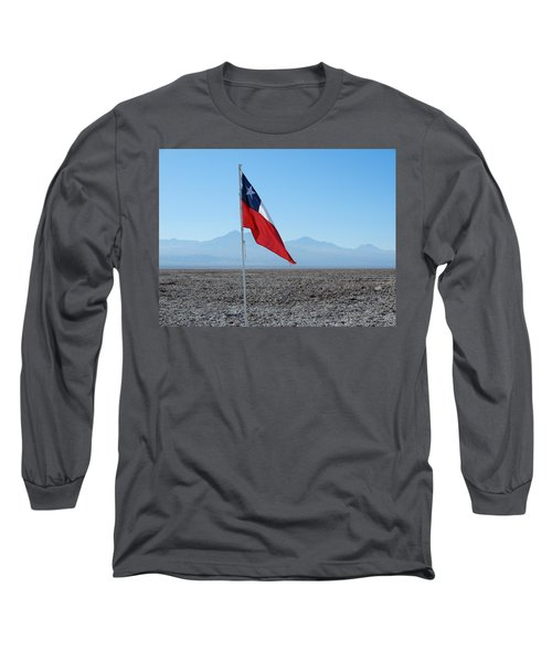 Chilean Flag Long Sleeve T-Shirt