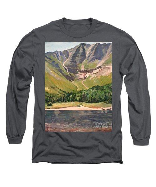 Chimney Pond At Katahdin Basin Long Sleeve T-Shirt