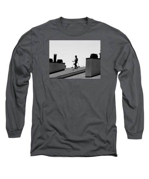 Long Sleeve T-Shirt featuring the photograph Chimney Sweep by Helen Haw