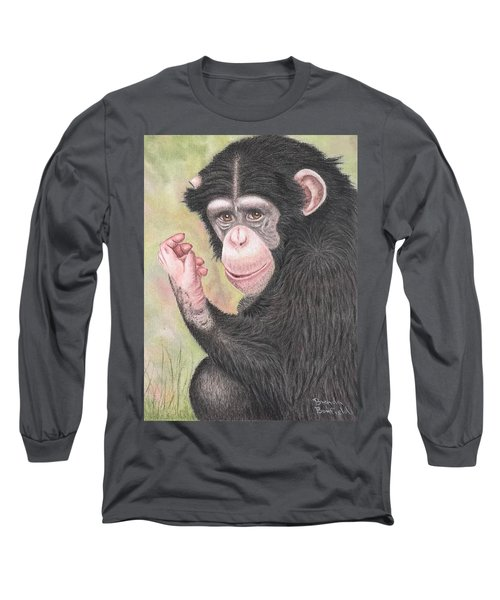 Chimpanzee Long Sleeve T-Shirt by Brenda Bonfield