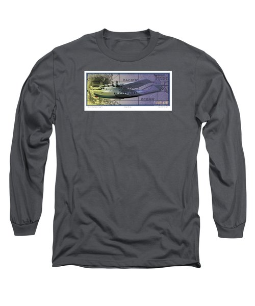 China Clipper Chasing The Sun Long Sleeve T-Shirt by Kenneth De Tore