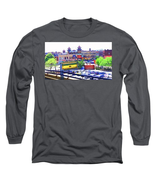Chinatown Chicago 1 Long Sleeve T-Shirt by Marianne Dow