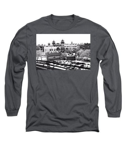 Chinatown Chicago 4 Long Sleeve T-Shirt by Marianne Dow