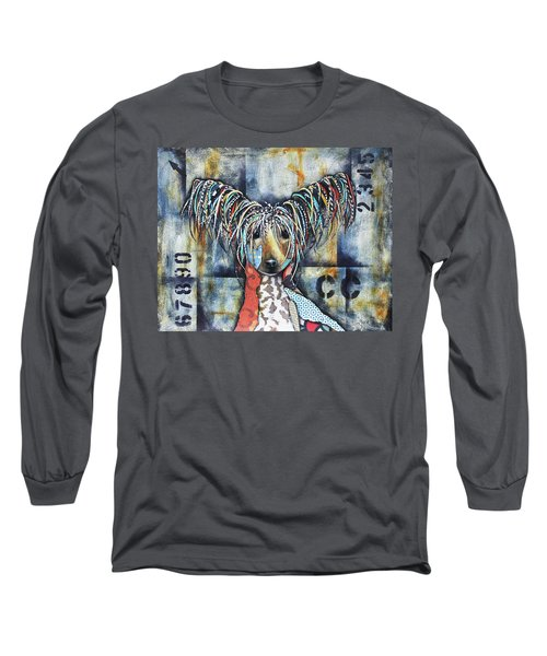 Chinese Crested Long Sleeve T-Shirt by Patricia Lintner