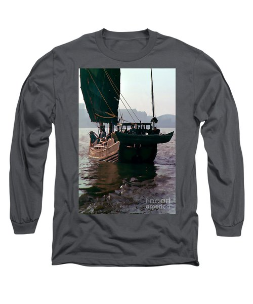 Chinese Junk Afloat In Shanghai Long Sleeve T-Shirt