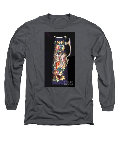 Chinese Pitcher -  More Than 100 Years Old Long Sleeve T-Shirt by Merton Allen
