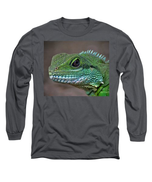 Chinese Water Dragon Long Sleeve T-Shirt by Savannah Gibbs