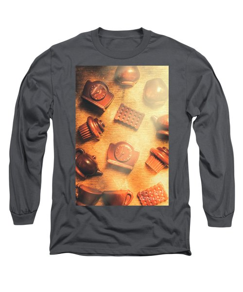 Chocolate Cafe Background Long Sleeve T-Shirt