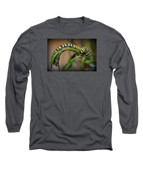 Long Sleeve T-Shirt featuring the photograph Chomp, Chomp by Lew Davis