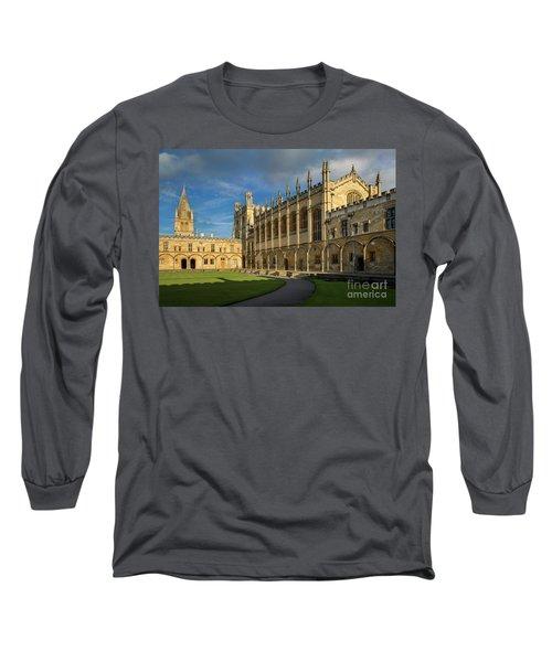 Long Sleeve T-Shirt featuring the photograph Christ Church College II by Brian Jannsen