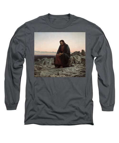 Christ In The Desert Long Sleeve T-Shirt