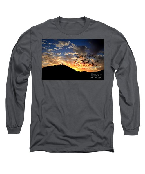 Christ Is Risen Long Sleeve T-Shirt by Sharon Soberon