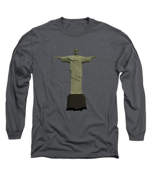 Long Sleeve T-Shirt featuring the photograph Christ The Redeemer Brazil by David Dehner